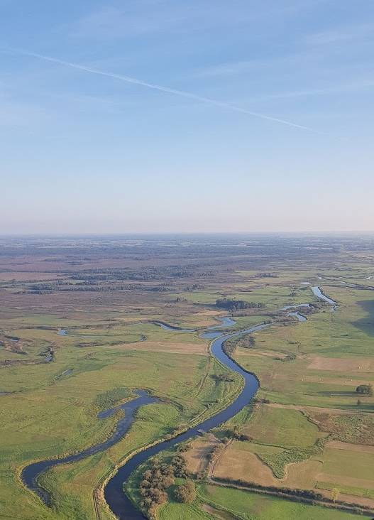 Lot Balonem nad rzeką Biebrza