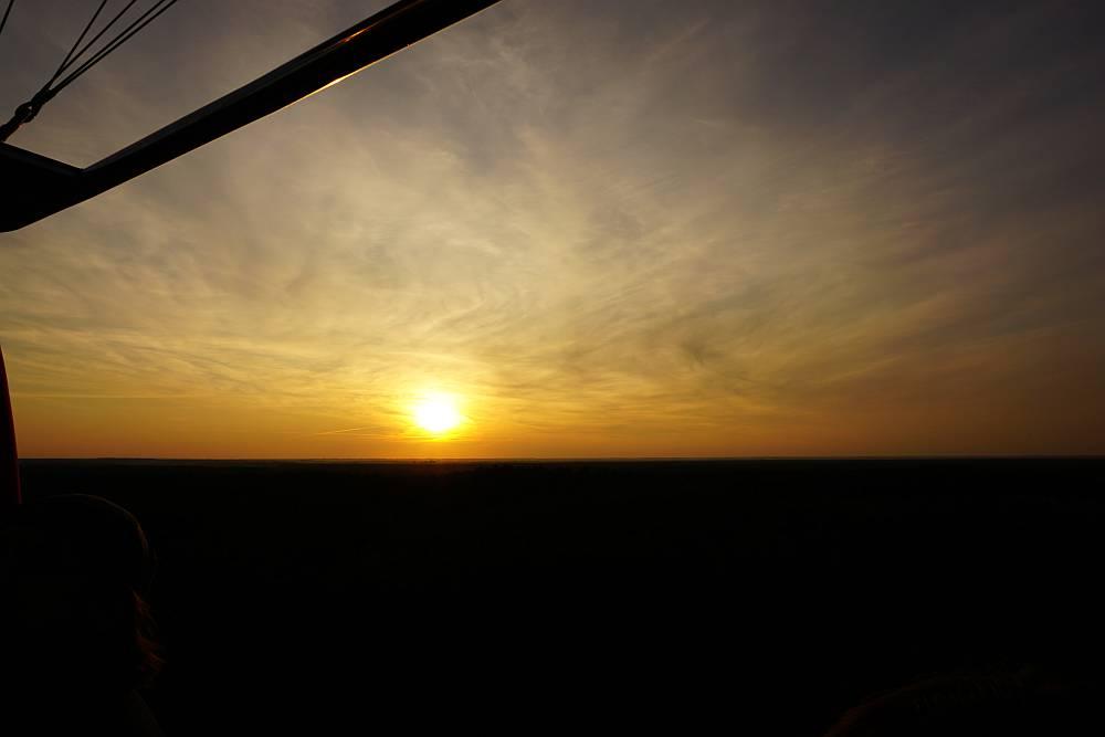 Lot Balonem nad Biebrzą - Zachód Słońca