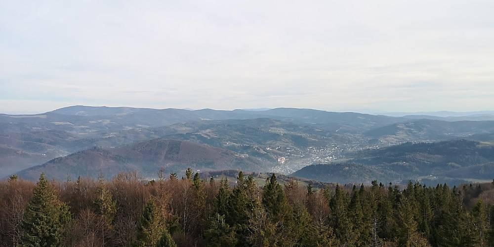 Widok z wieży na Wielkiej Czantorii